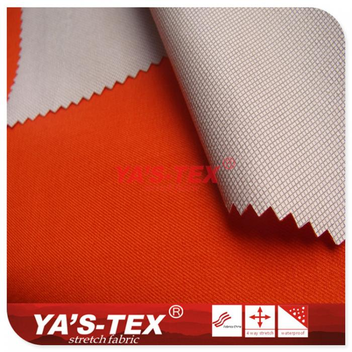 Twisted all-polyester four-way stretch posted TPU, lattice color film, pregnant women radiation, riding clothing fabric
