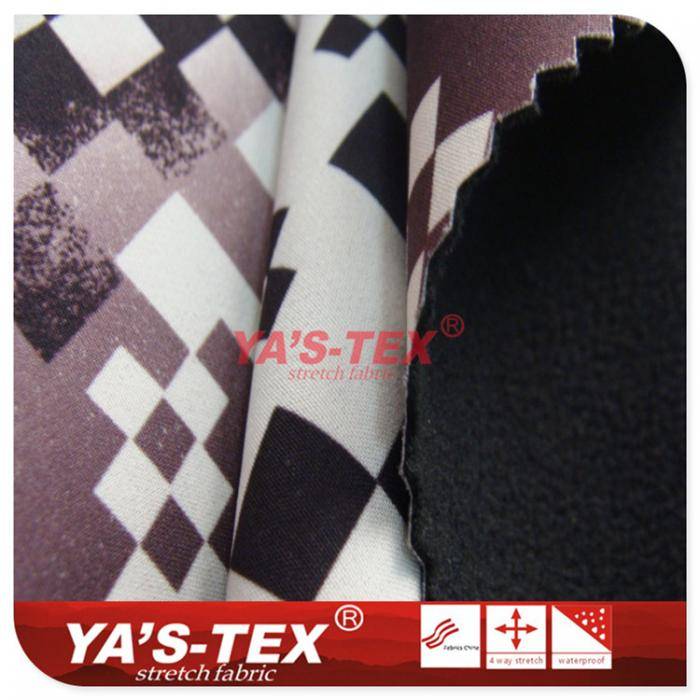 Printing four-way elastic composite fleece, double composite fabric, flame retardant and wear-resistant function, luggage
