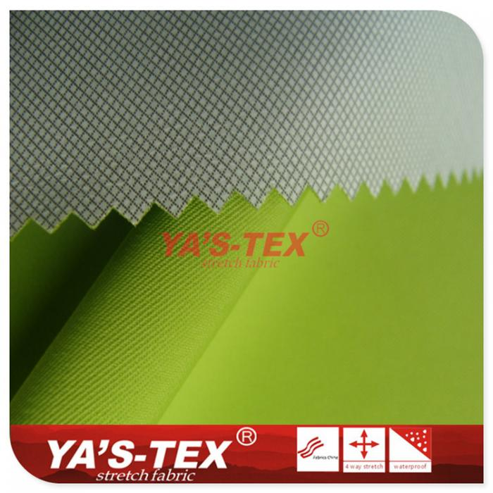 Twill polyester four-way stretch, coating, lattice, waterproof anti-slip Kevlar cloth, mountaineering fabric