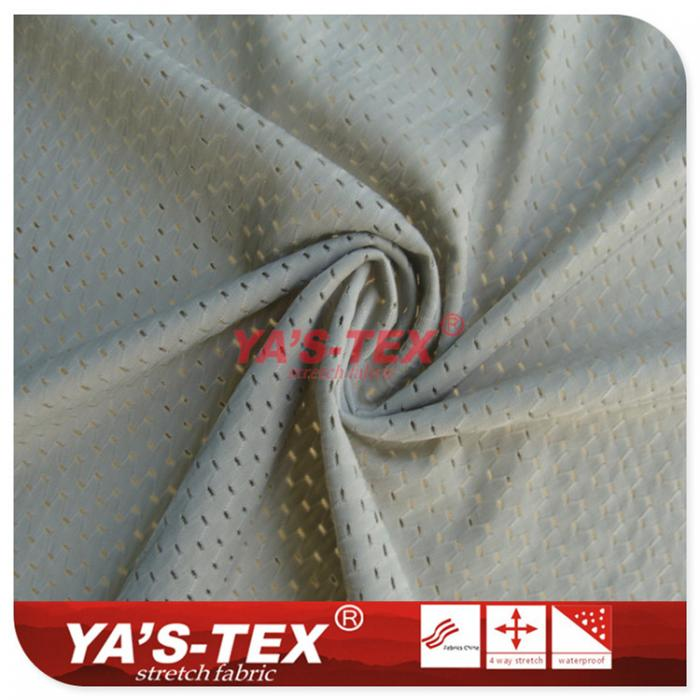 Nylon four-way stretch, summer outdoor sports apparel fabrics, breathable cold absorbent mesh cloth