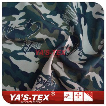 Camouflage printing polyester four-way stretch