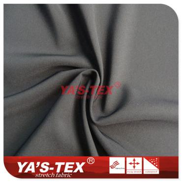 Polyester double four-way stretch, ultra-fine twill
