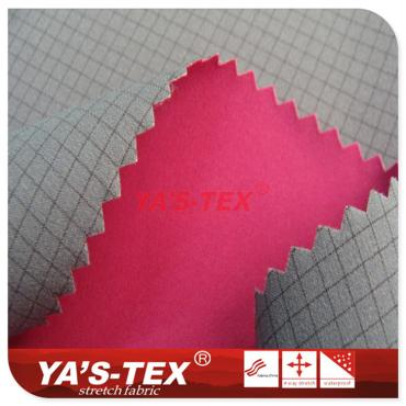 Nylon complex TPU complex polyester lattice four-way elastic
