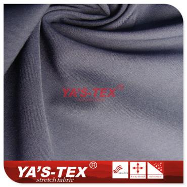 Polyester four-way stretch, double-sided twill