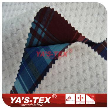 Polyester four-way elastic composite fancy fleece