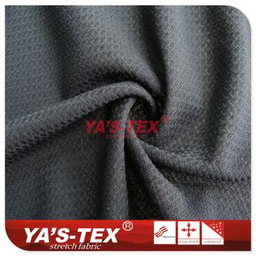 Polyester four-way stretch, ultra-thin breathable double jacquard
