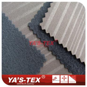 Polyester four-way elastic composite fleece, double-layer composite
