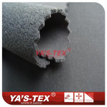 Knitted nylon four - way elastic composite fleece TPU three - layer composite