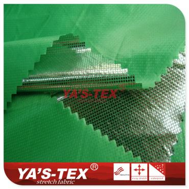 Polyester non-elastic cloth composite TPU, hot silver