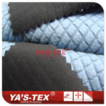 Polyester four-way stretch composite fancy fleece