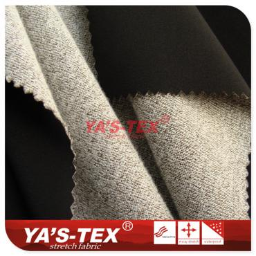 Polyester four-way stretch composite knitted cationic fabric