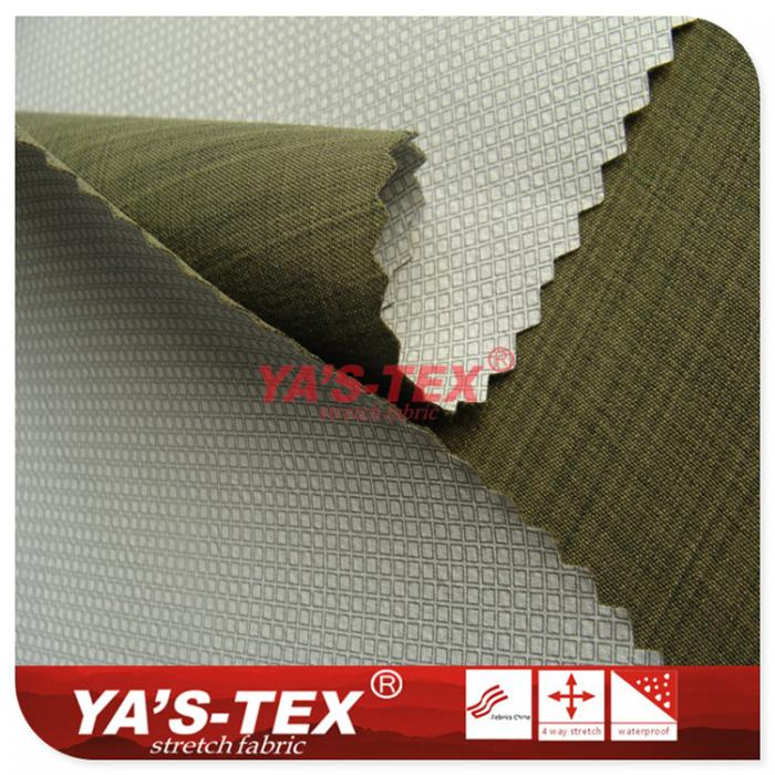 Polyester and non-elastic yarn-dyed composite TPU