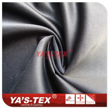 Full polyester and non-elastic, twill
