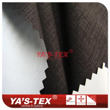 Four-way stretch polyester TPU composite dark lines