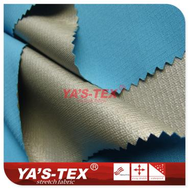 Polyester lattice four-way elastic paste TPU