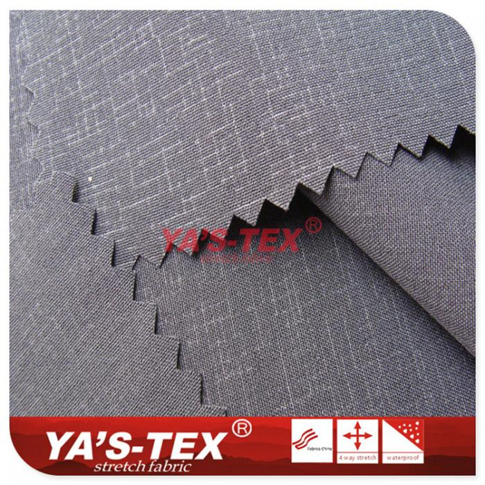 100D polyester four-way elastic embossing, dark stripes