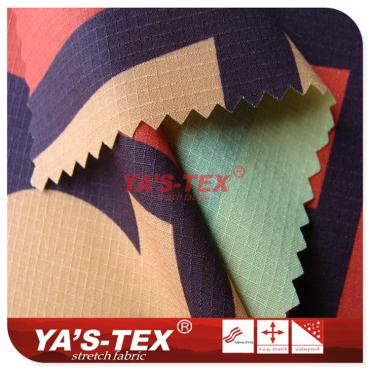 Polyester lattice printing four-way stretch