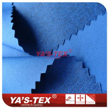 Polyester twist four-way stretch, small jacquard twill cationic style