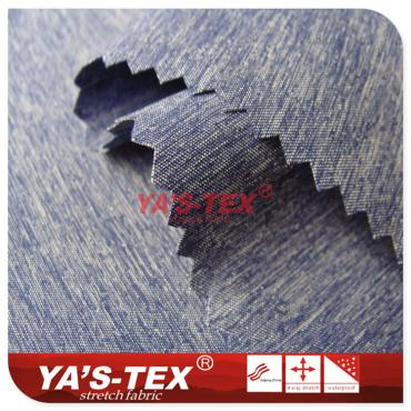 Polyester twist four-way stretch, cationic style