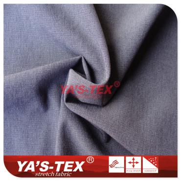 Polyester four-way stretch, cationic style