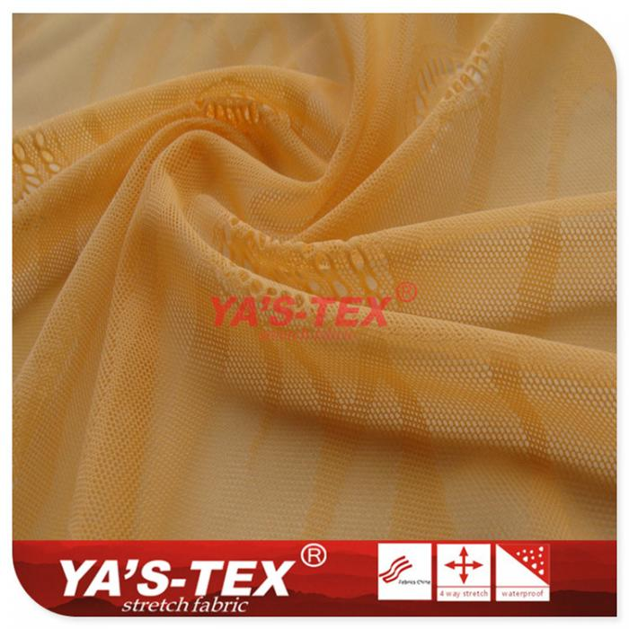Warp knitted nylon bottomless jacquard