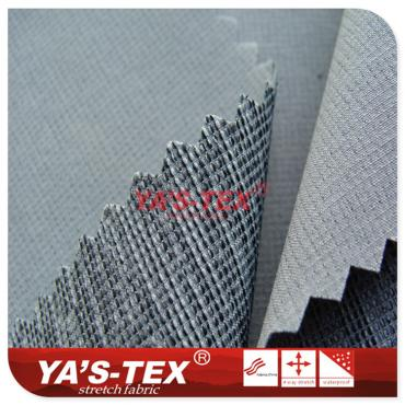 Dark lattice polyester four-way stretch