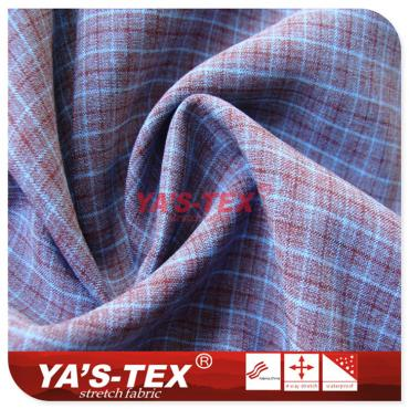 Yarn-dyed lattice fabric, polyester four-way stretch