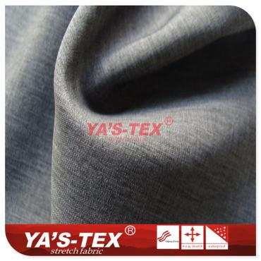 Polyester four-way elastic, thin two-color cation
