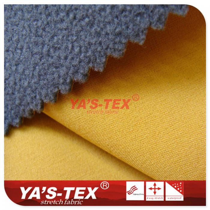 Four-way elastic composite fleece, nano-waterproof functional fabrics