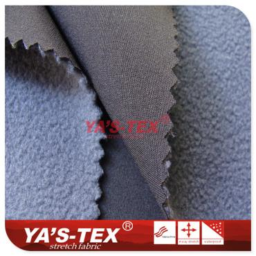 Four-way stretch composite fleece, medium permeability