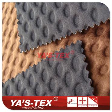 Polyester knitted four-way stretch composite circular mesh sponge