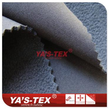 Four-way stretch composite fleece, high permeability