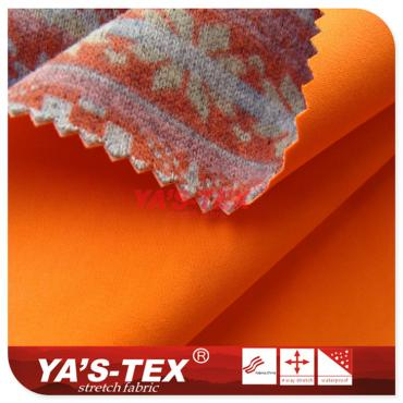 Polyester four-way stretch composite knitting printing