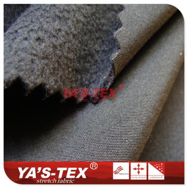 Four-way stretch composite fleece, polyester elastic cloth composite TPU + film