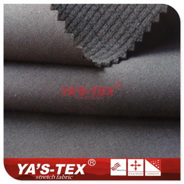 Polyester four-way stretch composite lattice fleece