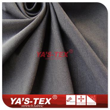 Polyester knitted jersey, four-way stretch