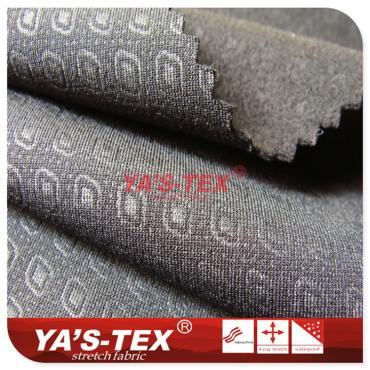 Polyester embossed four-way stretch hair cloth