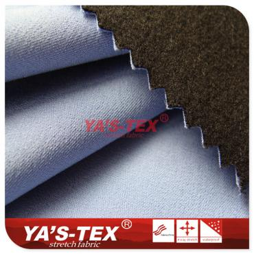 Twill polyester four-way stretch composite hair cloth