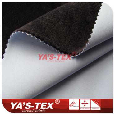 Polyester four-way stretch composite hair-cloth