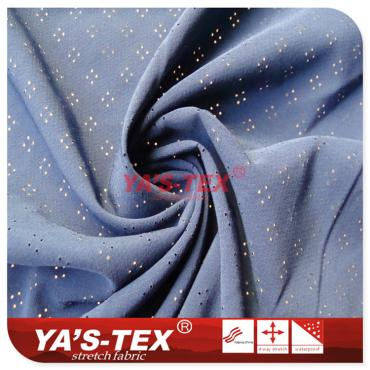 Polyester four-way stretch, drilling, jacquard diagonal