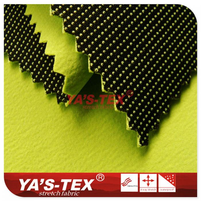 nylon four-way elastic composite knitted dyed fabric