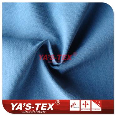 Two-color cationic polyester four-way stretch
