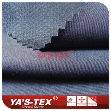 Ultra-fine twill stretch yarn composite bird eye cloth