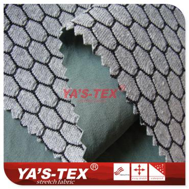 Three-layer composite fabric, the characteristics of hexagonal mesh soft shell