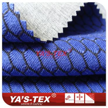Three - layer composite soft shell fabric, cationic four - way elastic composite