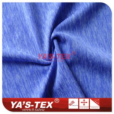 Cationic knitted jersey, soft wear