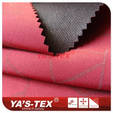 polyester four-way stretch composite 30D Tricot, reflective printing