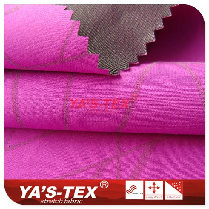 polyester nonelastic, 30D Tricot, reflective printing