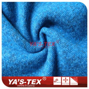 Thick needle knitted cationic fleece, single-sided bristles and shaking tablets