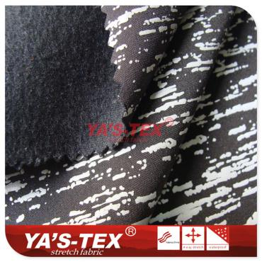 Three composite fabric, reflective printing compound fleece